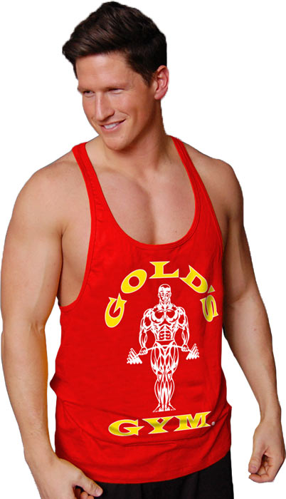 e75fd03f73763 Gold s Gym Muscle Joe Contrast Stringer Tank. Hover to Zoom