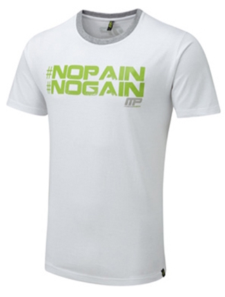 MP No Pain No Gain Tee White