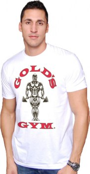 Golds Gym Muscle Joe Tee, White