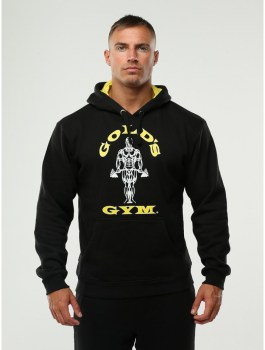 Golds Gym Pull Over Hoodie, Black