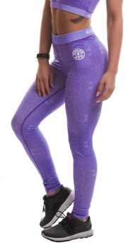 Golds Gym Sublimation Gym Leggings, Lilac