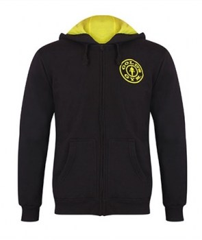 Golds Gym Zipper Hoodie Joe, Black