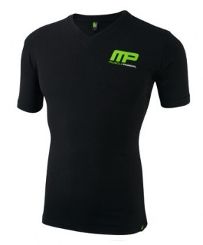 MusclePharm Sportswear V Neck Logo Tee Black