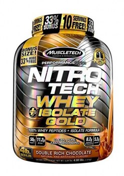 MuscleTech Nitro Tech Whey Plus Isolate Gold 4lbs