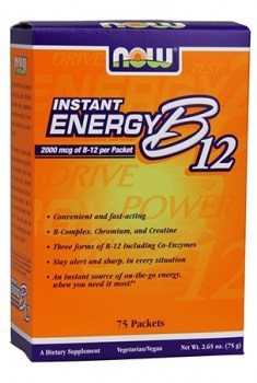 Now Foods Instant Energy B-12, 75 Packets