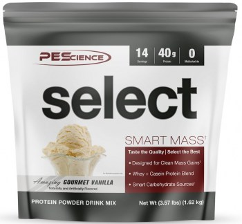 PEScience Select Smart Mass-Vanilla-14-Serving-Pouch-FRONT